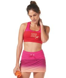 Pink fitness bra and skirt outfit - BE FIT