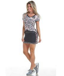 Sport set floral t-shirt and short skirt - LIGHT POWER WOMAN