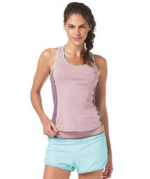 Mauve/blue reversible shorts and vest top - RUNNING