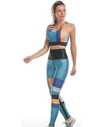 Reversible jeans colored fitness set - SENSITIVE