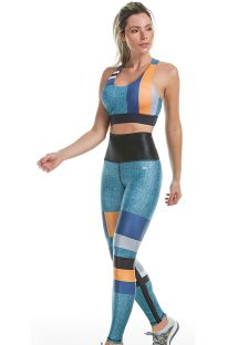 Reversible jeans colored fitness set - SENSITIVE
