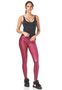 Pink leggings and black vest top sports outfit - SHEER COM RELETE