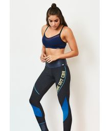 Set med fitness- bh och blå leggings i bi-material - BLUES