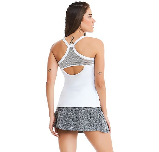 Sports set: tank top and grey skirt - POWER