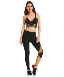 Black & gold fitness set with openwork - ROCK ASYMETRIC