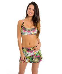 Cactus print fitness skirt and bra - CACTUS CUAUTEA