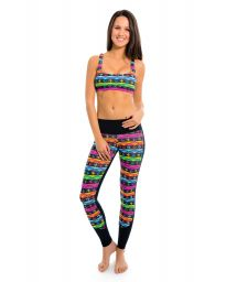 Cactus print workout leggings and bra - DESERTO QUINTANA