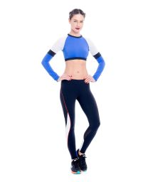 Workout leggings and crop top, openwork inserts - KURIMANZUTO ANAHUACALLI
