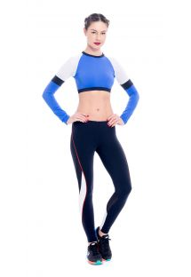 Crop top et legging fitness, parties ajourées - KURIMANZUTO ANAHUACALLI