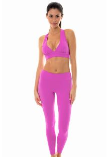 Pink sports bra and leggings set - NZ GLAM FITNESS