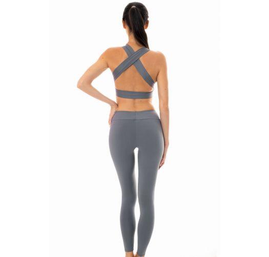 083b89c51852f Two Piece Swimwear Grey Sports Bra And Leggings Set - Nz Gris Fitness