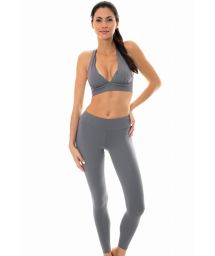 Grå övredel och fitness leggings - NZ GRIS FITNESS