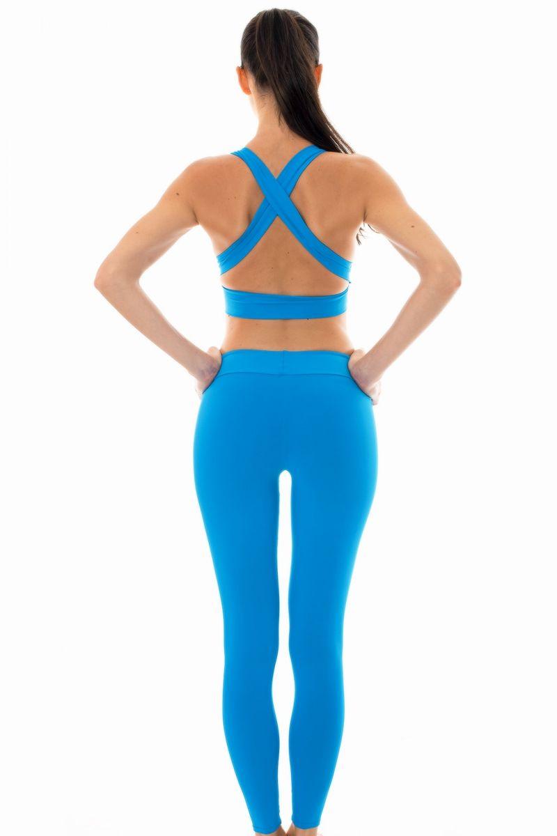 Bluesports bra and workout leggings set - NZ RESORT FITNESS