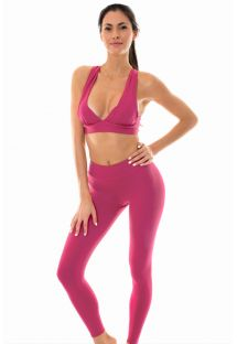 Dark pink sports bra and leggings - NZ VITAMINA FITNESS