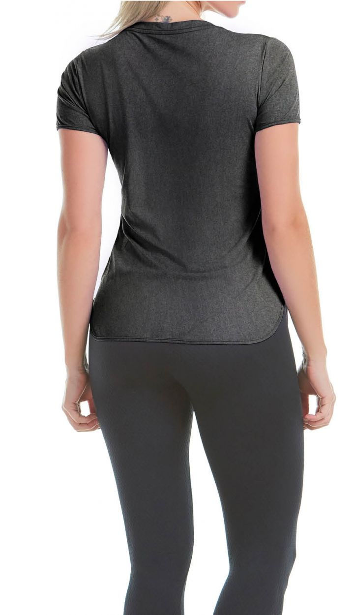 Short sleeve black women&#39s sports t-shirt - T-SHIRT SKIN F BLACK