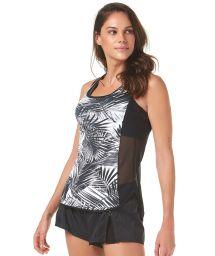 Tropical blackbi-fabric sports vest top - PALMEIRA IMPERIAL