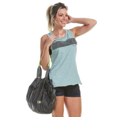 Sport-Trägerhemd grünmeliert/gemustert - REGATA INFINITY