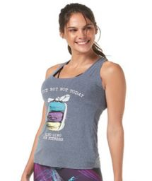 Printed gray sports tank top - REGATA LEGGERISSIMO