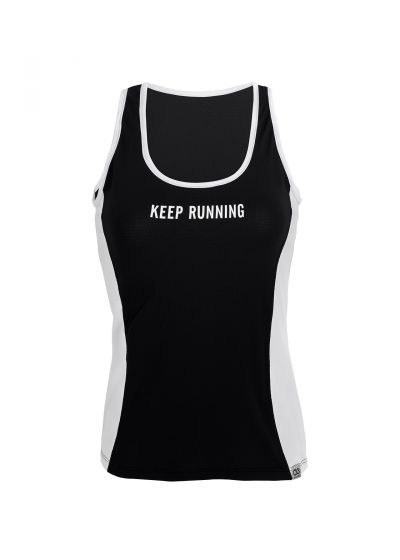 Black & white fitness top with a message - REGATA NEW TRIP