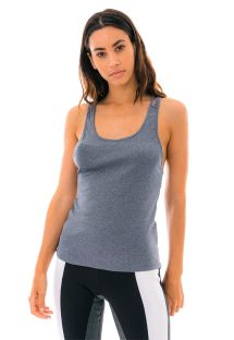 Gray tank top with strappy back - REGATA SKIN FIT