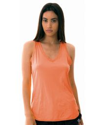Orange fitness top with V neckline - REGATA SKIN FIT GOLA