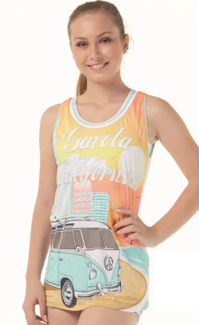 Women`s colorful printed sports tank top - REGATAO GAROTA CALIFORNIA