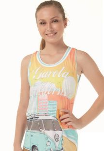 Women`s colorful printed sports tank top - REGATAO GAROTA CALIFORNIA