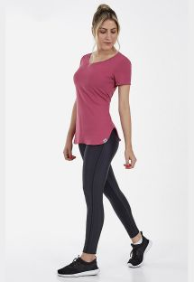 T-SHIRT SKIN FIT ALONGADA ROSA