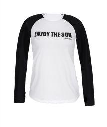 Black & white fitness longsleeve with a message - T-SHIRT AMBRA MANGA