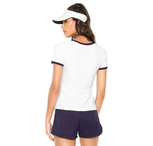 Weißes Sport-T-Shirt mit Kontrastumrandung - T-SHIRT CALIFORNIA