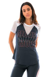Bi-material sport t-shirt MOVE - T-SHIRT SKIN FIT REC