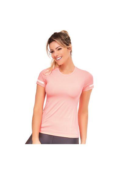 Pale pink fitness T-shirt - TOP ATHANTA RECORTES