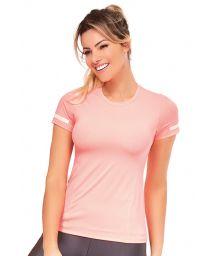 Ljusrosa fitness T-shirt - TOP ATHANTA RECORTES
