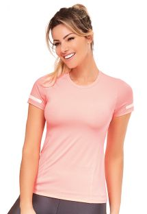 Pale pink fitness T-shirt - TOP ATHANTA RECORTES