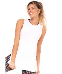 Simple white sporty tank top - TOP ATHANTA SENSATION