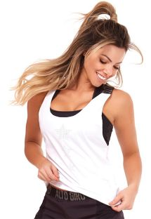 Weißes Fitness Tank Top - TOP LEGERISSIMO