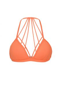 Orangenes Strappy-Sport-Bustier - TOP LIGHT ROLETE LARANJA