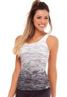 Black and white gradient fitness tank top - TOP SKIN DEGRADE