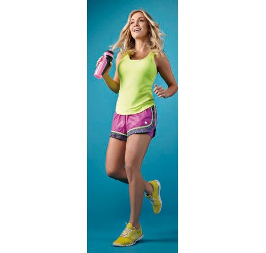 Yellow fluo workout vest, racerback - VERSALHES AMARELO FUN