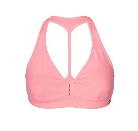 Light pink fitness bralet, racer back - TOP FIO LIGHT PINK