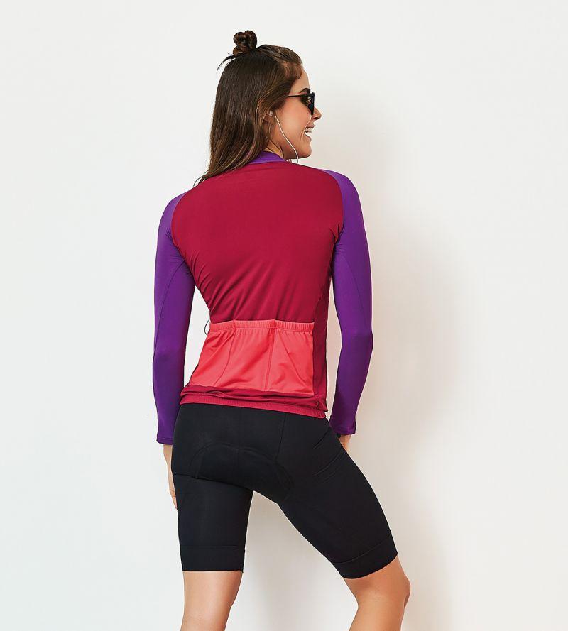 Tricolor fitness longsleeve - TOP MANGA LONGA BIKE
