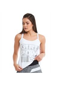 White & silver fitness top - TOP POWER