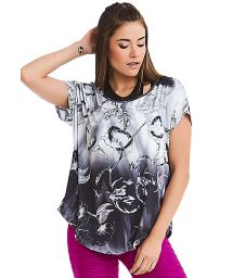 Gradient floral sport t-shirt - TOP TEXTURE COAST
