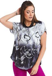 Gradient floral sport t-shirt - TOP TEXTURE COAST