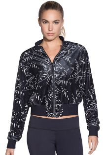 Black print reversible velvet bomber jacket - EIGHT TRACK REVERSE ONYX