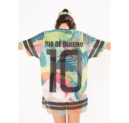 カラフルなトロピカル柄のスポーツTシャツ - T-SHIRT GALEGO