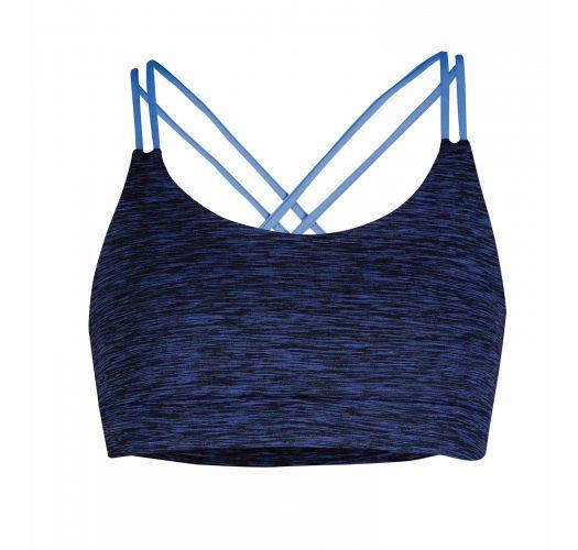 Brassière fitness imprimé réversible bleu - DYE SAPPHIRE