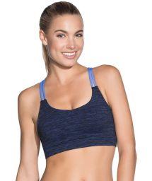 Blue print reversible fitness sports bra - DYE SAPPHIRE