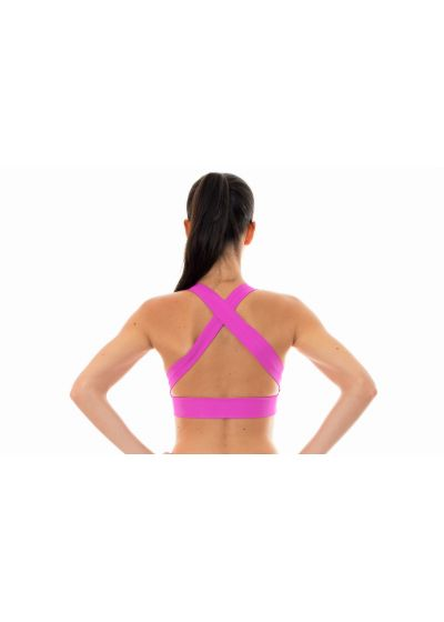 Pinkworkout sports bra with crossover back - NZ GLAM TOP FITNESS