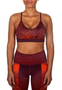 Tofarget sports-bra med lett hold - DUNE SPORT BRA ORANGE